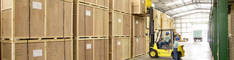 Storage of goods bottom